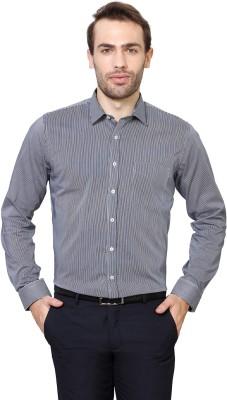 Van Heusen Men's Striped Formal Blue Shirt
