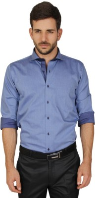 Redcountry Men's Printed Casual Blue Shirt