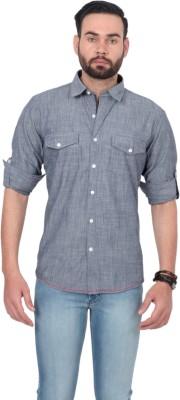 Urban Republic Men's Solid Casual Grey Shirt