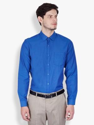 Mark Taylor Men's Solid Formal Dark Blue Shirt