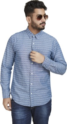 Defossile Men's Embroidered Casual Multicolor Shirt