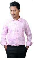 Cairon Formal Shirts (Men's) - Cairon Men's Checkered Formal Pink Shirt