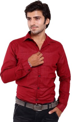 agarwal enterprices Men's Solid Casual Red Shirt