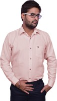 United Polo Hills Formal Shirts (Men's) - United Polo Hills Men's Solid Formal Pink Shirt