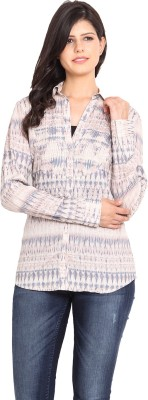 Nvl Women's Printed Casual Multicolor Shirt