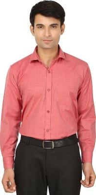 Forever19 Men's Solid Formal Orange Shirt