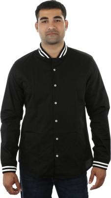 I cube club Men's Solid Casual Black Shirt
