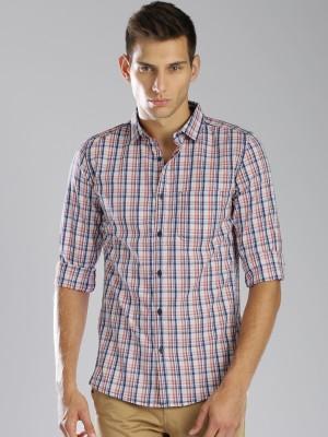 HRX by Hrithik Roshan Men's Checkered Casual White, Blue Shirt
