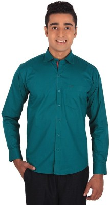 Henry Spark Men's Solid Casual Green Shirt