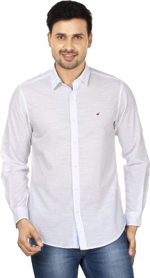 Wills Lifestyle Men's Solid Casual White Shirt