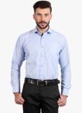 Regal Fit Plus Men's Solid Formal Blue S...