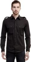 House Of Fett Formal Shirts (Men's) - House Of Fett Men's Solid Formal Black Shirt