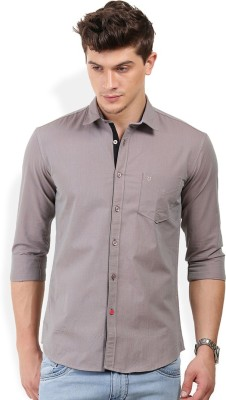PAN VALLEY Men's Solid Casual Grey Shirt
