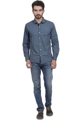 Mild Kleren Men's Printed Casual Dark Blue Shirt