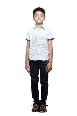 STOP by Shoppers Stop Boy,s Printed Casual Blue Shirt