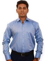 Iconic Formal Shirts (Men's) - Iconic Men's Solid Formal Blue Shirt