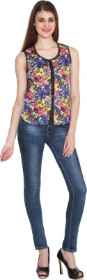 Sharleez Women's Printed Casual Multicolor Shirt