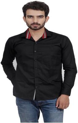 Mild Kleren Men's Solid Casual Black Shirt