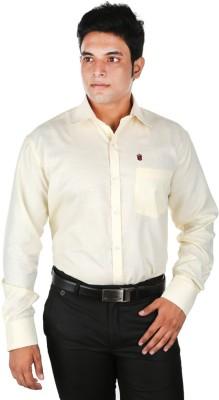 Relish Men's Solid Formal White Shirt