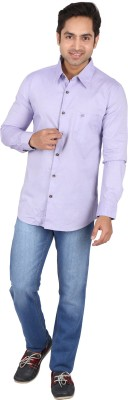 Tasho Zaara Men,s Solid Casual Purple Shirt