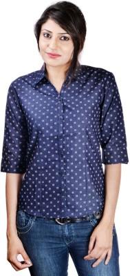 Shop Avenue Women's Printed Casual Black Shirt