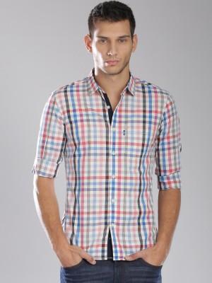 HRX by Hrithik Roshan Men's Checkered Casual Blue, Red Shirt