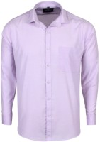 Swiss Connection Formal Shirts (Men's) - Swiss Connection Men's Solid Formal Purple Shirt