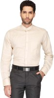 Stop By Shoppers Stop Formal Shirts (Men's) - Stop By Shoppers Stop Men's Solid Formal Beige Shirt