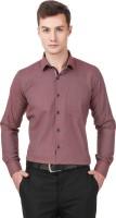 Cavana Formal Shirts (Men's) - CAVANA Men's Self Design Formal Red Shirt