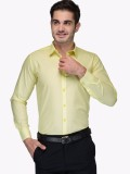 Oshano Men's Solid Casual Yellow, Yellow...