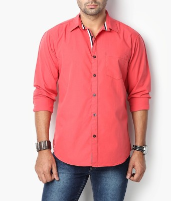 Suspense Men's Solid Casual Red Shirt