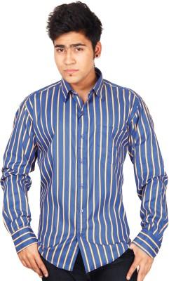 Crocks Club Men's Checkered Casual Blue Shirt