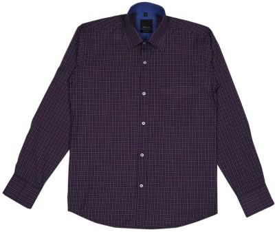 Esoft Men's Checkered Casual Maroon Shirt