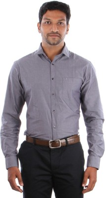 Indian Terrain Men's Solid Casual Grey Shirt