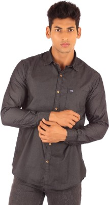 FA French America Men's Solid Casual Grey Shirt