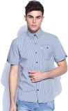 883 Police Men's Checkered Casual Blue S...
