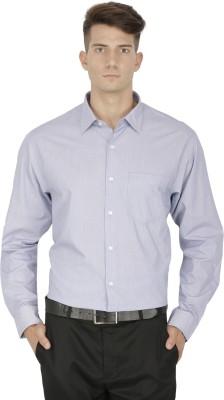 Kingswood Men's Striped Formal Blue, Black Shirt