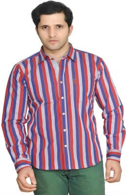 Ubho Men's Striped Casual Multicolor Shirt