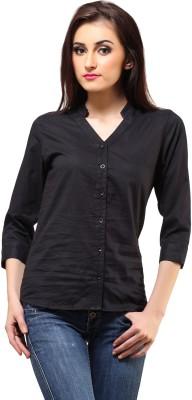 Cation Women's Solid Formal Black Shirt at flipkart