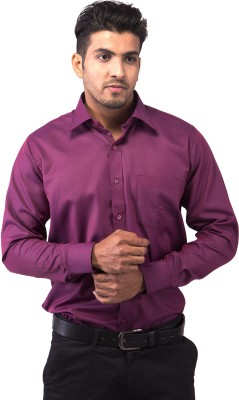 Indian Weller Men's Solid Formal Maroon Shirt