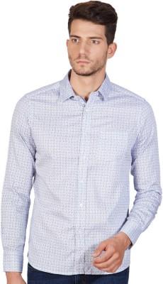American Swan Men's Printed Casual Blue Shirt
