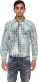Pepe Men's Checkered Casual Green Shirt