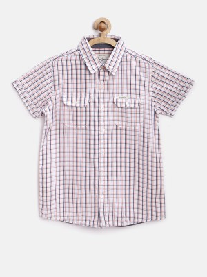 Pepe Jeans Boy's Checkered Casual White Shirt
