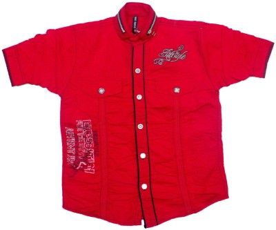 BAD BOY Boy's Solid Casual Red Shirt