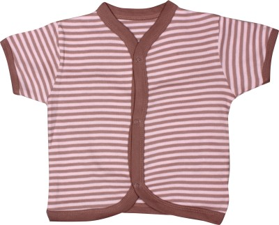 Mini Berry Baby Girl's Printed Casual Pink Shirt