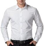 Santo Men's Solid Formal White Shirt