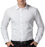 Santo Formal Shirts (Men's) - Santo Men's Solid Formal White Shirt