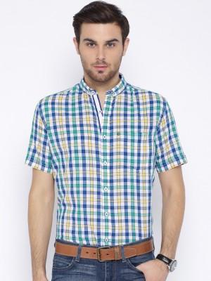 Harvard Men's Checkered Casual Multicolor Shirt