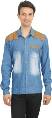 Stylox Men's Solid Casual Blue Shirt