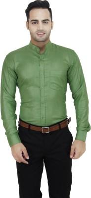 LEAF Men's Solid Formal Light Green Shirt